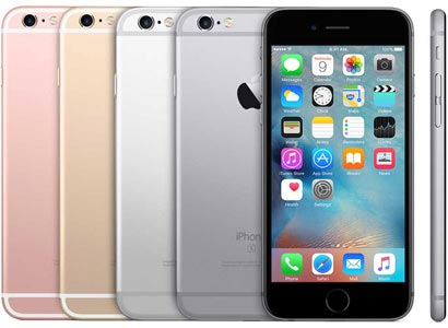 iPhone 6S in Rose, Gold, Silver, and Space Grey